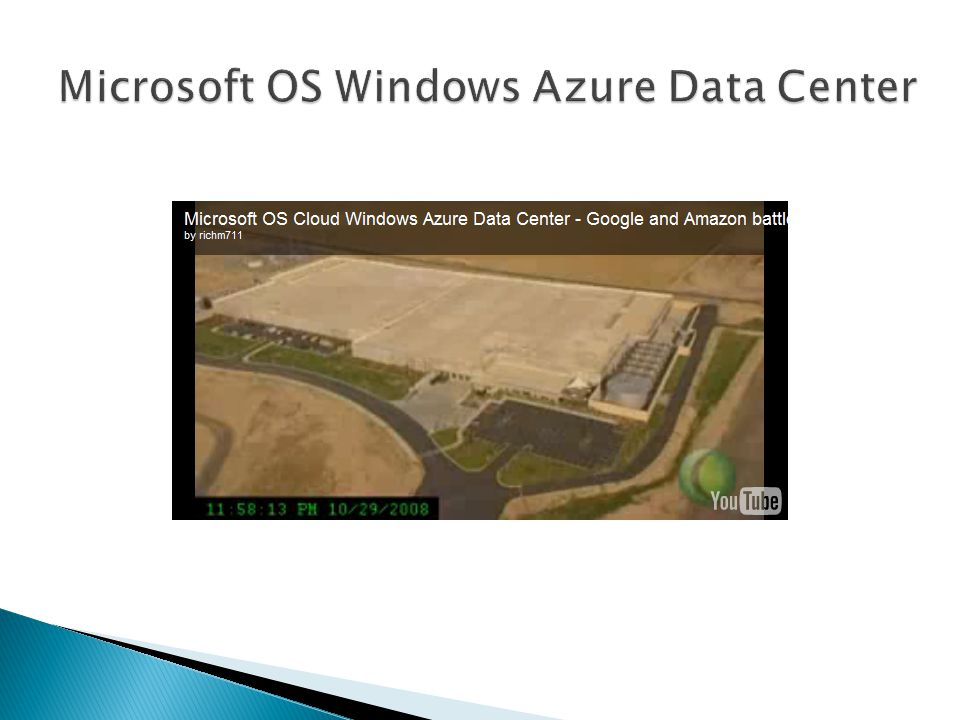 Microsoft OS Windows Azure Data Center