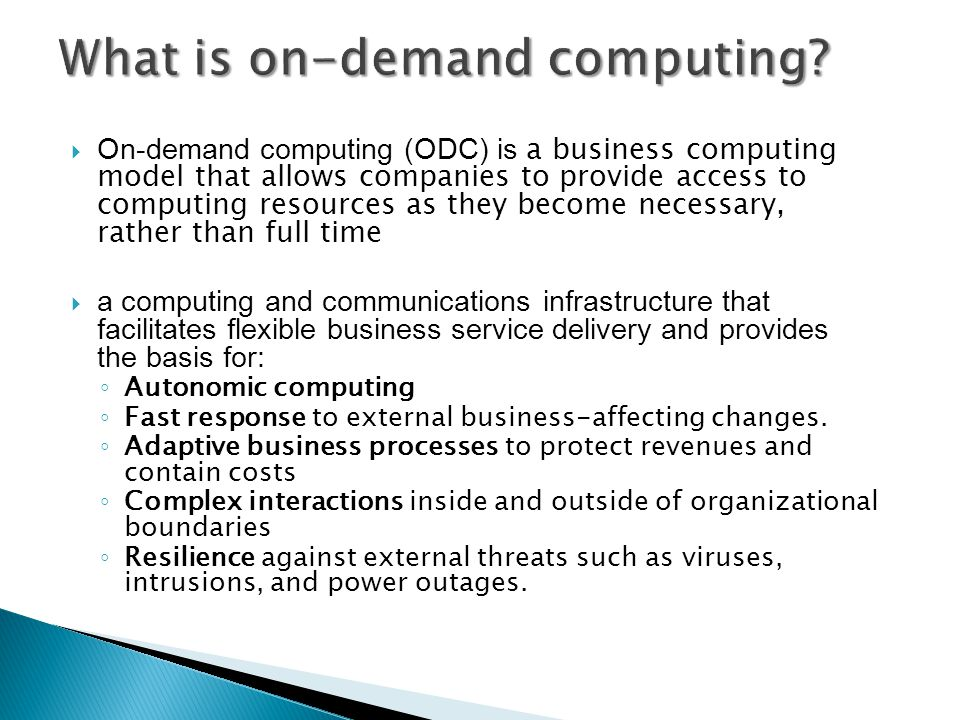 What is on-demand computing