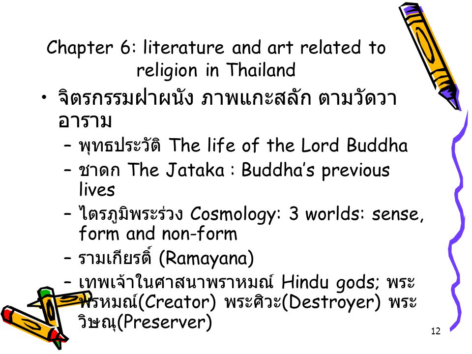 Chapter 6: literature and art related to religion in Thailand