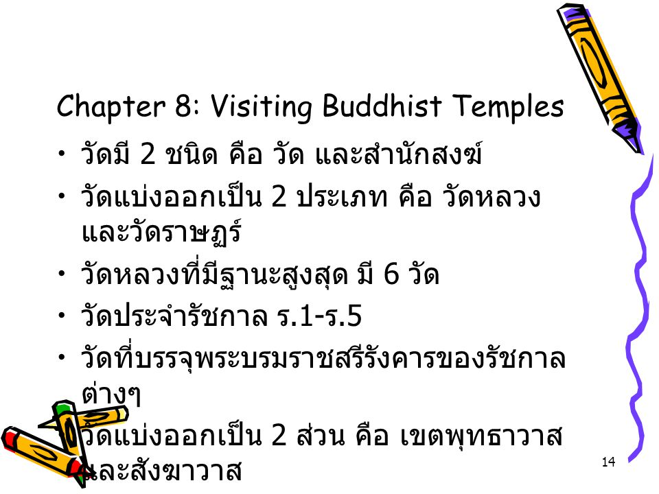 Chapter 8: Visiting Buddhist Temples