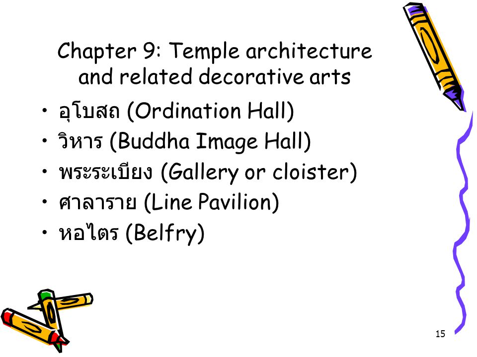 Chapter 9: Temple architecture and related decorative arts