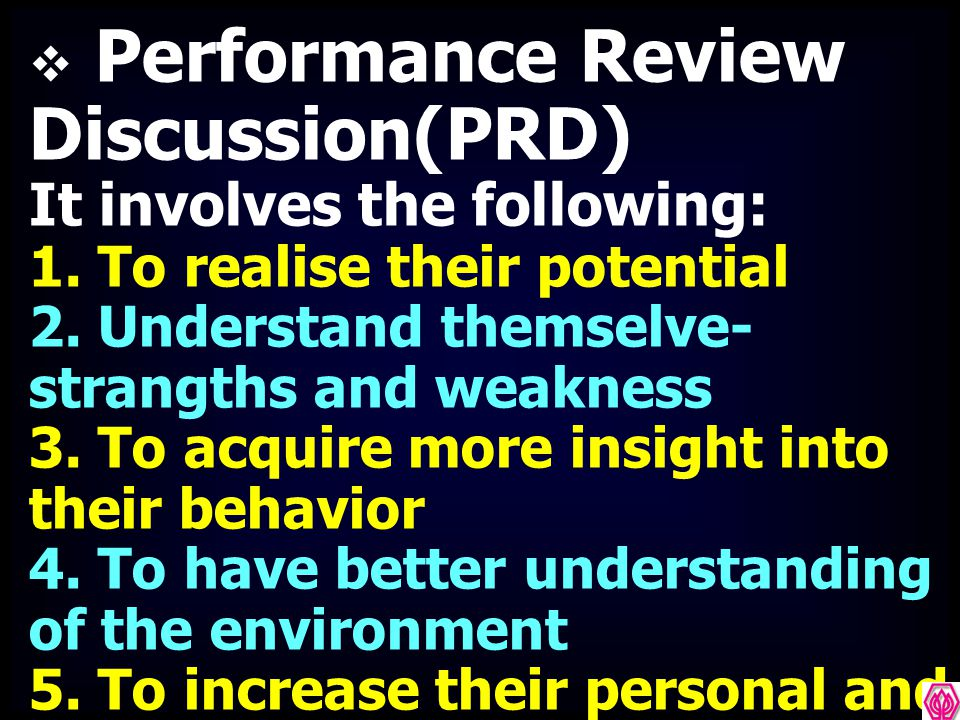 Performance Review Discussion(PRD)