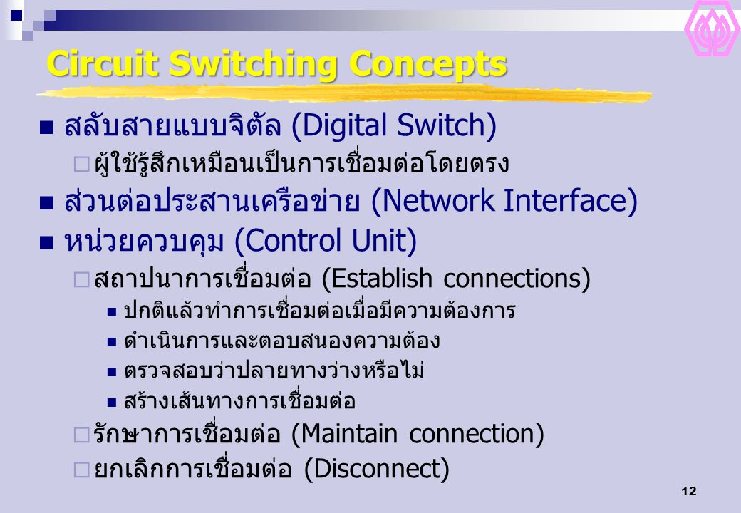 Circuit Switching Concepts