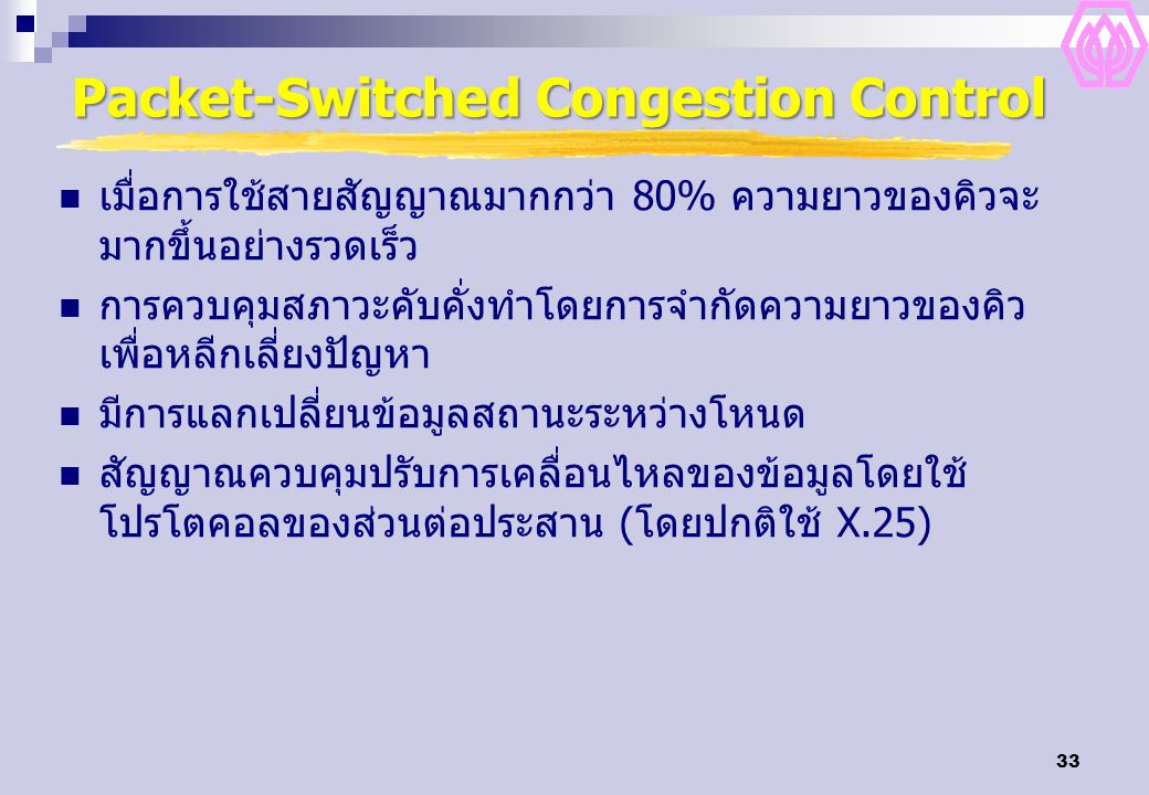 Packet-Switched Congestion Control