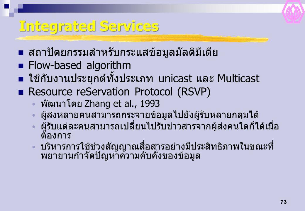Integrated Services สถาปัตยกรรมสำหรับกระแสข้อมูลมัลติมีเดีย