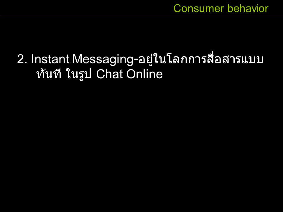 2. Instant Messaging-อยู่ในโลกการสื่อสารแบบทันที ในรูป Chat Online