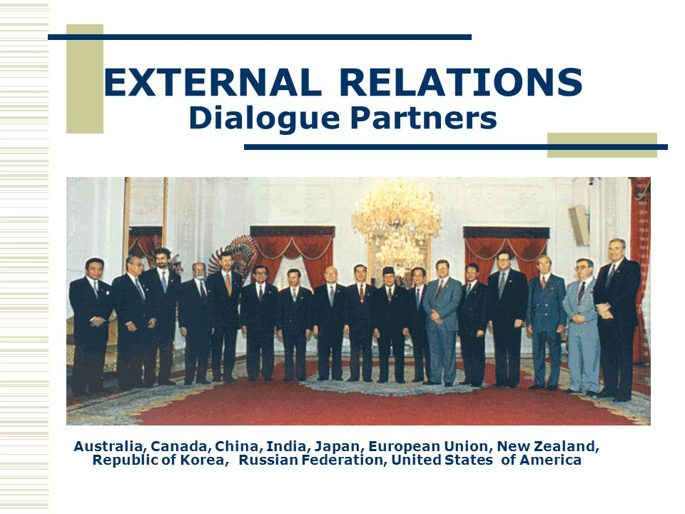 EXTERNAL RELATIONS Dialogue Partners