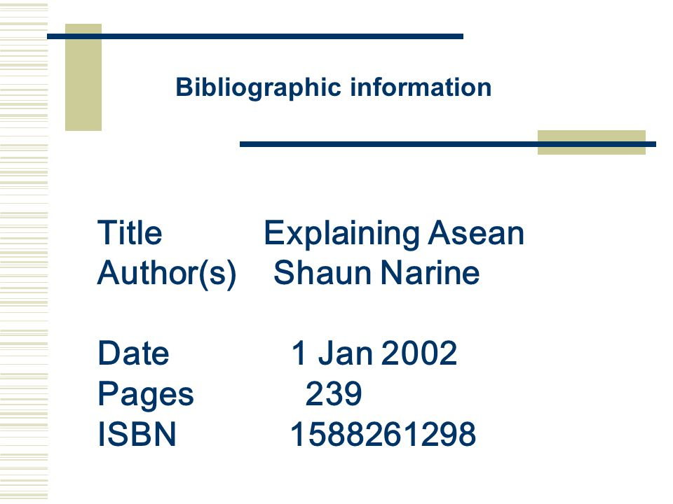 Title Explaining Asean Author(s) Shaun Narine Date 1 Jan 2002