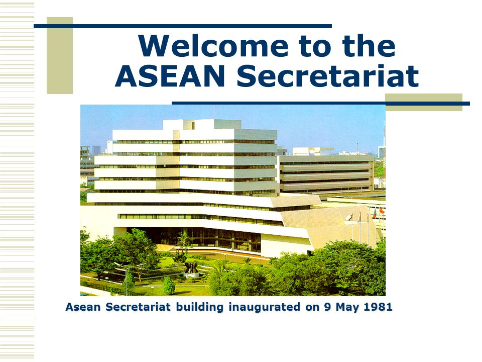 Welcome to the ASEAN Secretariat