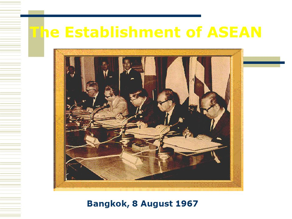 The Establishment of ASEAN