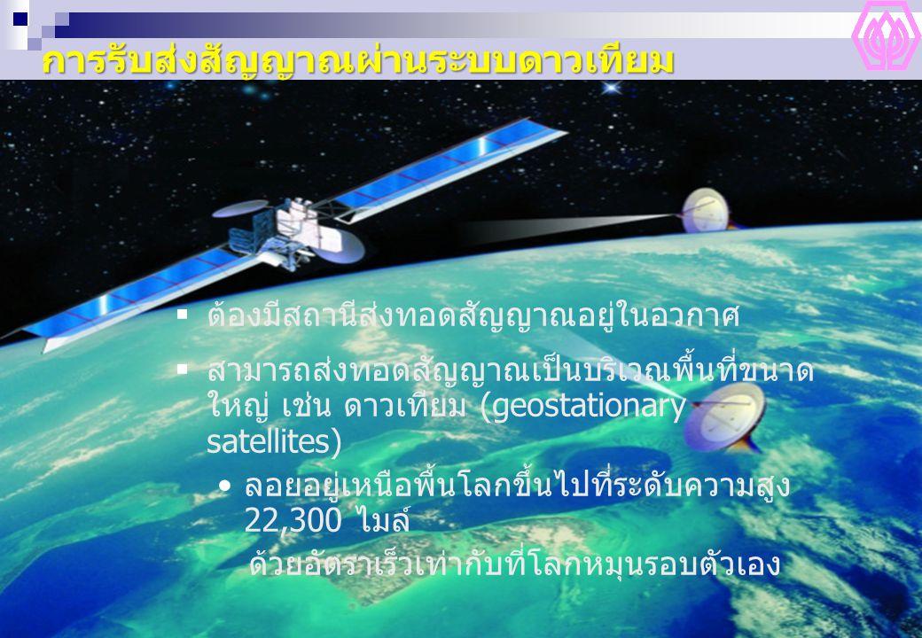 การรับส่งสัญญาณผ่านระบบดาวเทียม