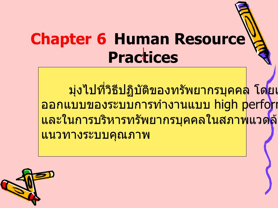 Chapter 6 Human Resource Practices
