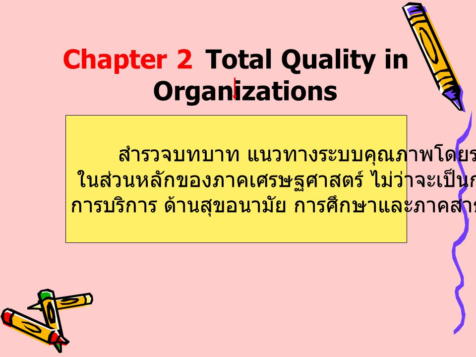 Chapter 2 Total Quality in Organizations
