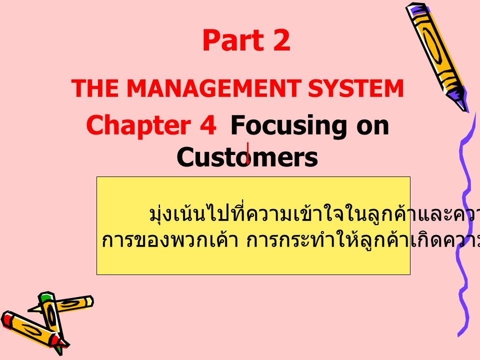 Chapter 4 Focusing on Customers