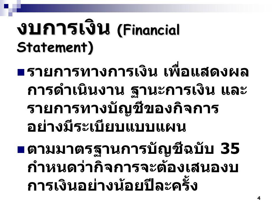 งบการเงิน (Financial Statement)