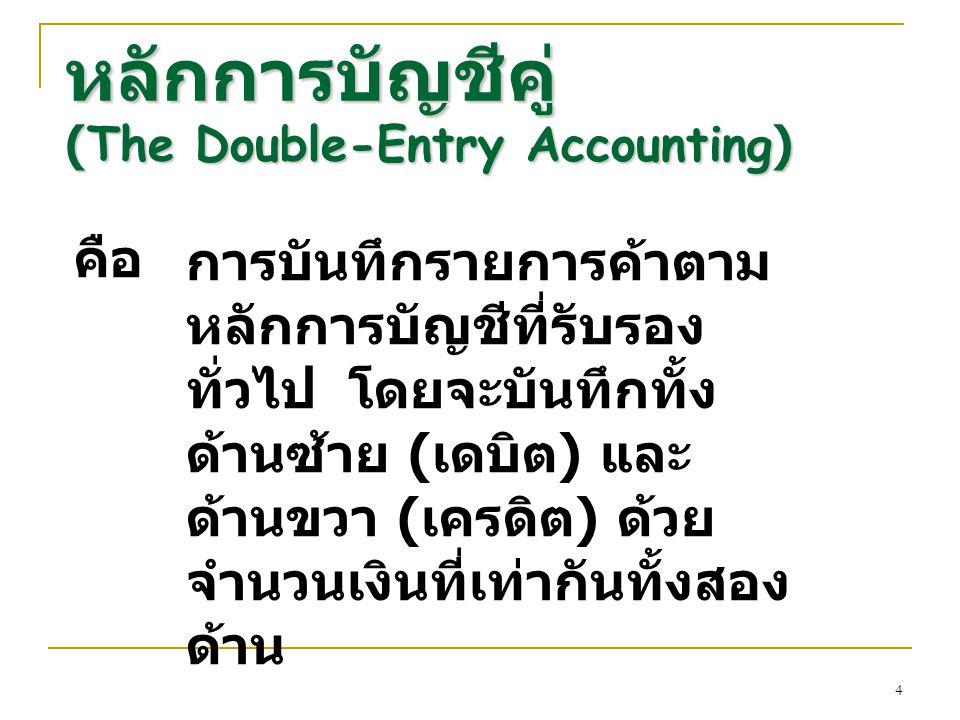 หลักการบัญชีคู่ (The Double-Entry Accounting)