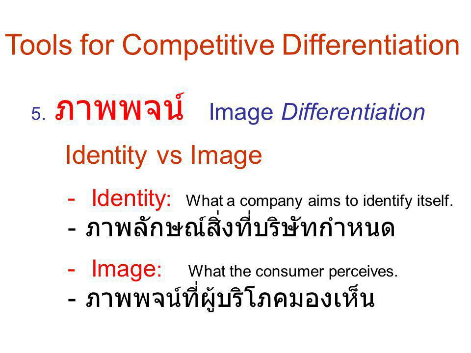 Tools for Competitive Differentiation