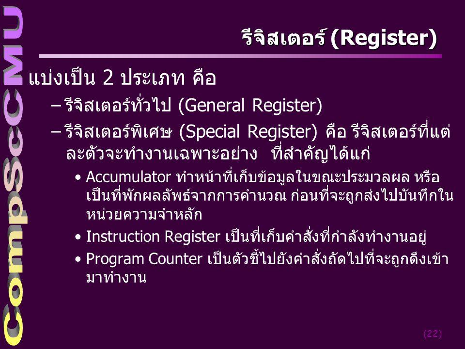 รีจิสเตอร์ (Register)