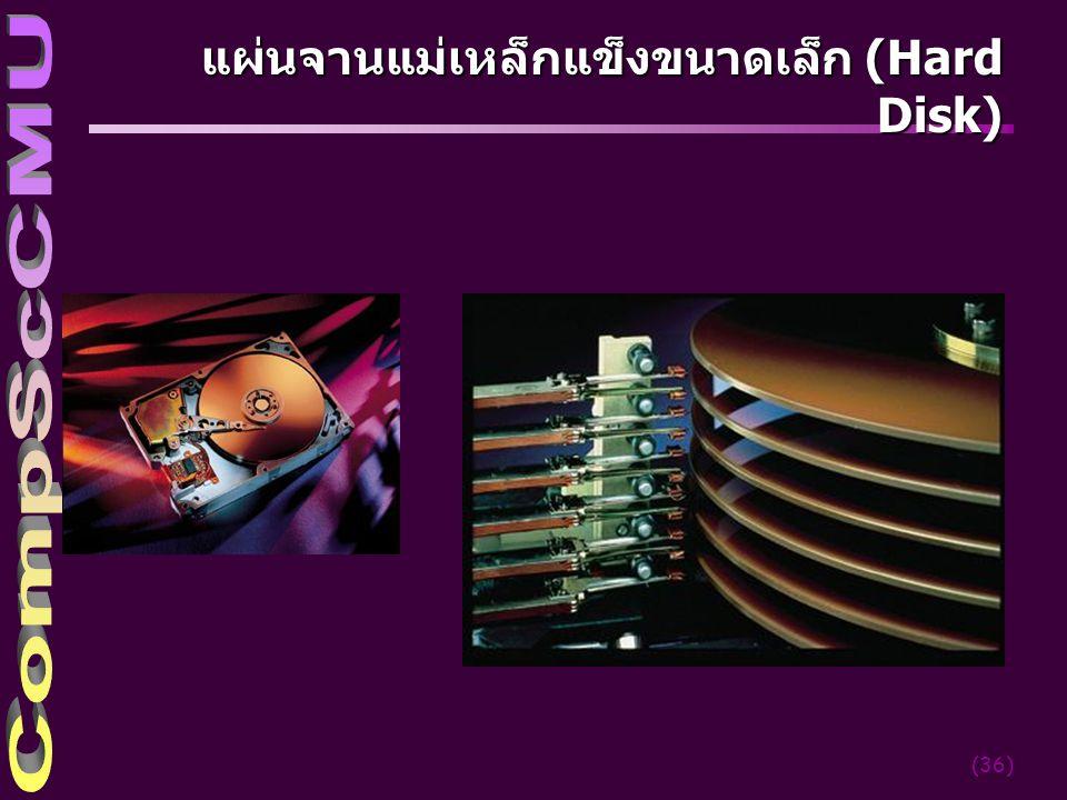 แผ่นจานแม่เหล็กแข็งขนาดเล็ก (Hard Disk)
