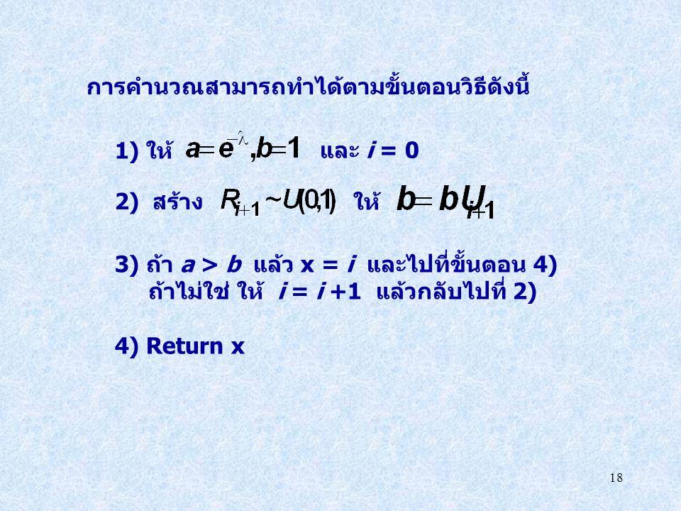 การคำนวณสามารถทำได้ตามขั้นตอนวิธีดังนี้