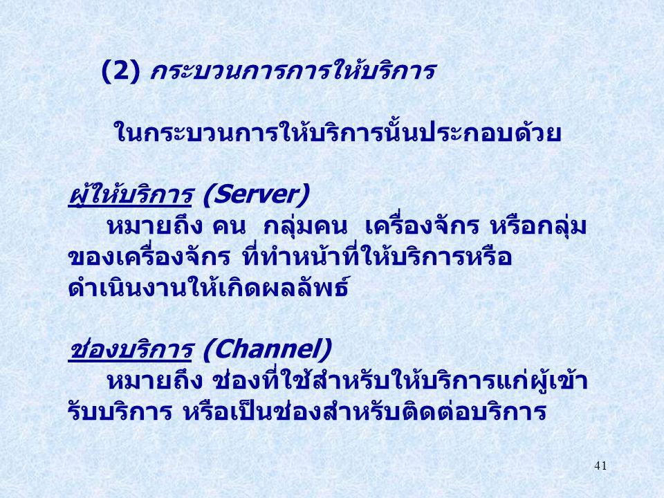 (2) กระบวนการการให้บริการ