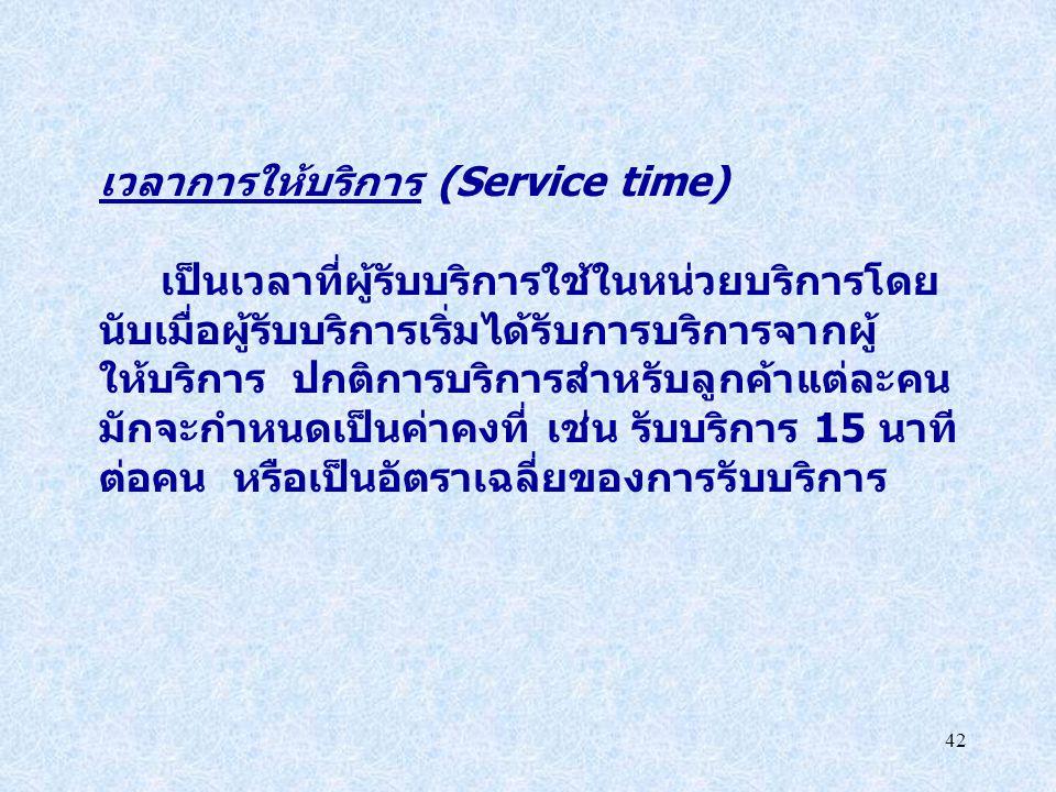 เวลาการให้บริการ (Service time)