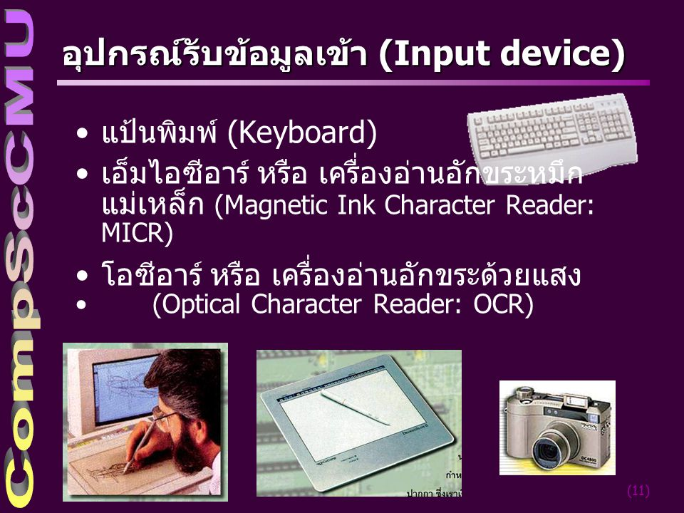 อุปกรณ์รับข้อมูลเข้า (Input device)