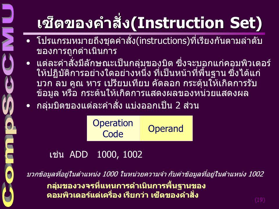 เซ็ตของคำสั่ง(Instruction Set)