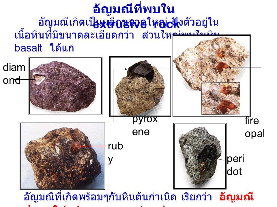 อัญมณีที่พบใน extrusive rock