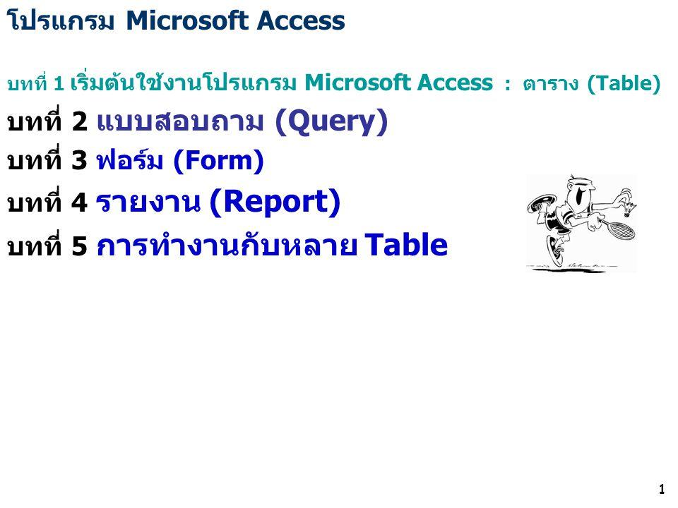 โปรแกรม Microsoft Access