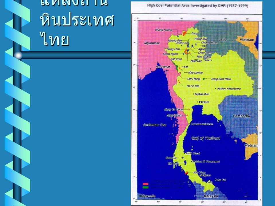 แหล่งถ่านหินประเทศไทย