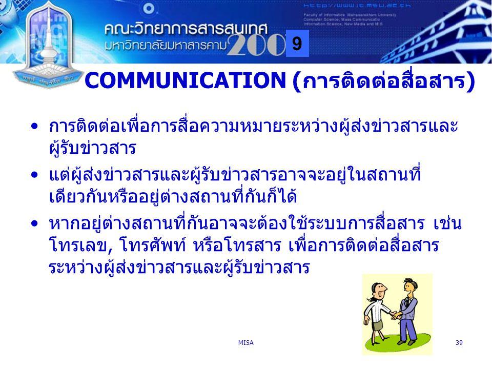 COMMUNICATION (การติดต่อสื่อสาร)