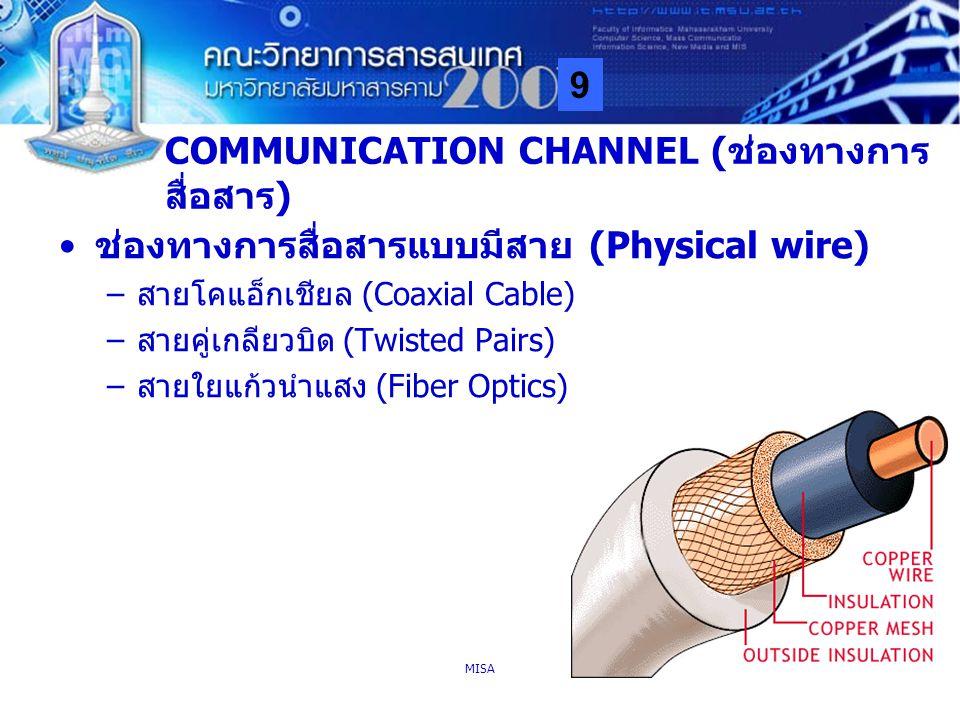COMMUNICATION CHANNEL (ช่องทางการสื่อสาร)
