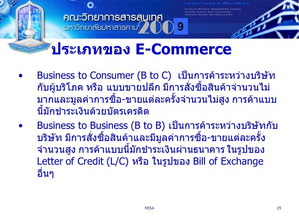 ประเภทของ E-Commerce