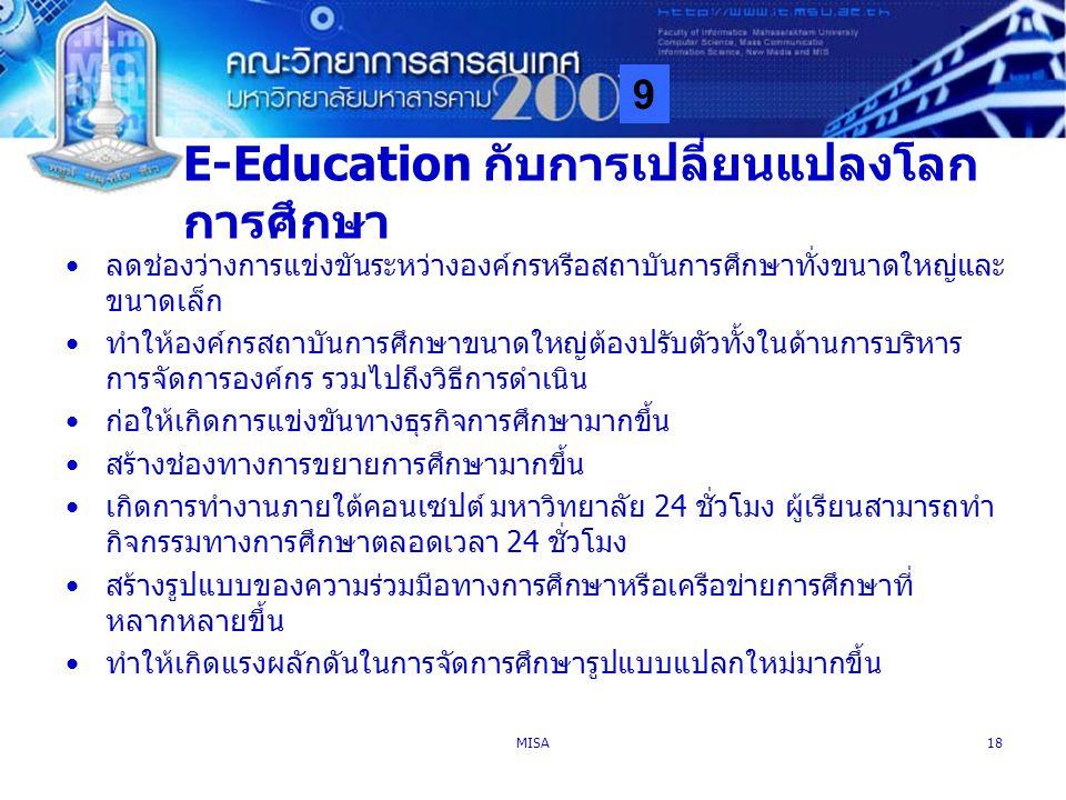 E-Education กับการเปลี่ยนแปลงโลกการศึกษา