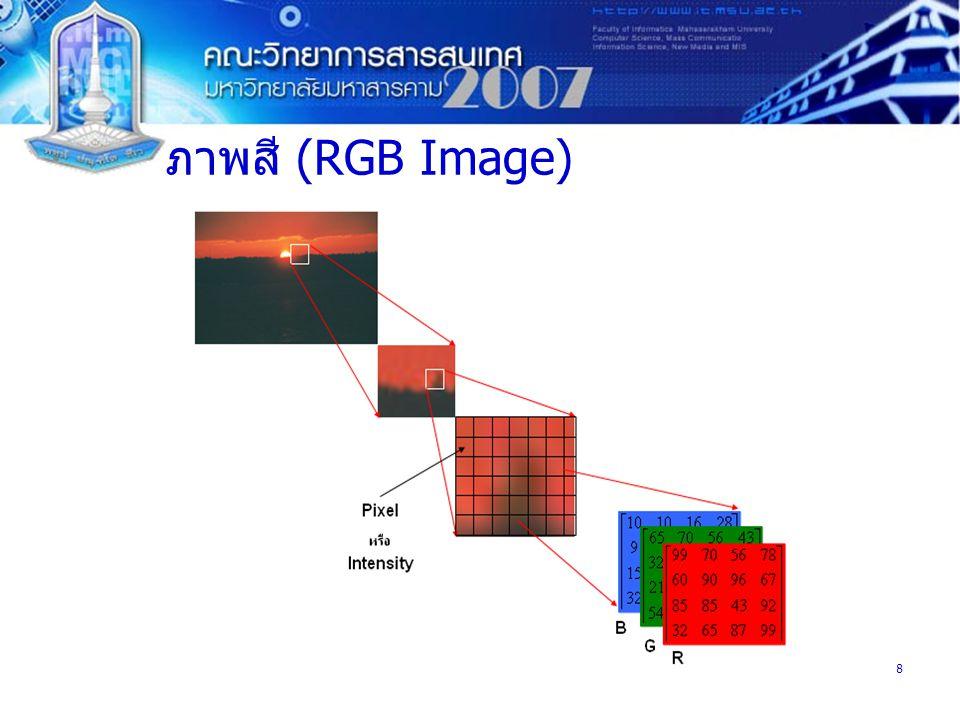 ภาพสี (RGB Image)