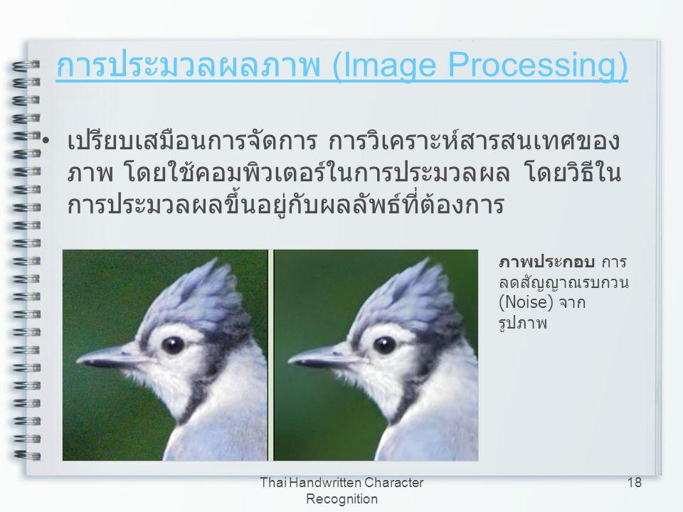 การประมวลผลภาพ (Image Processing)
