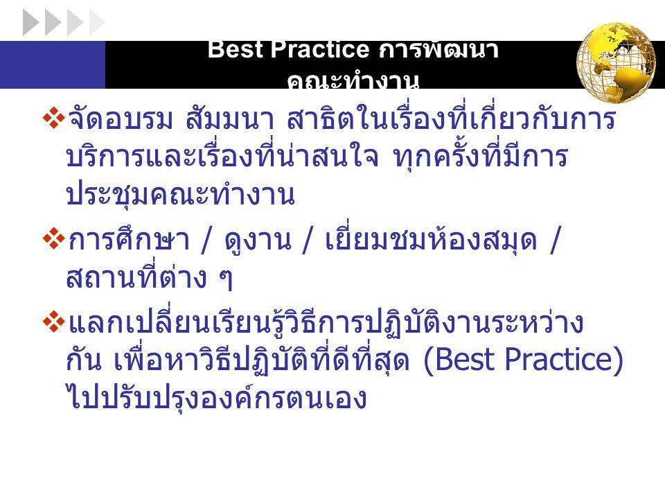 Best Practice การพัฒนาคณะทำงาน