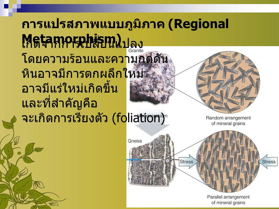 การแปรสภาพแบบภูมิภาค (Regional Metamorphism)