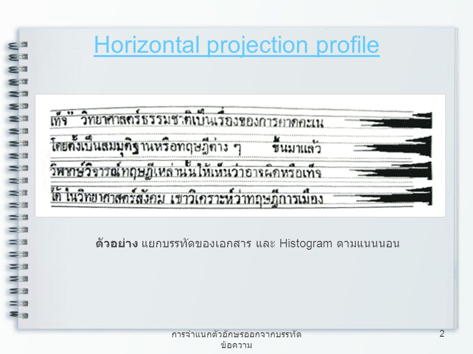 Horizontal projection profile