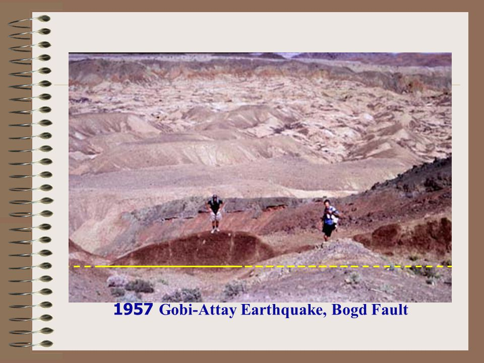 1957 Gobi-Attay Earthquake, Bogd Fault