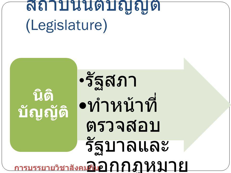 สถาบันนิติบัญญัติ (Legislature)
