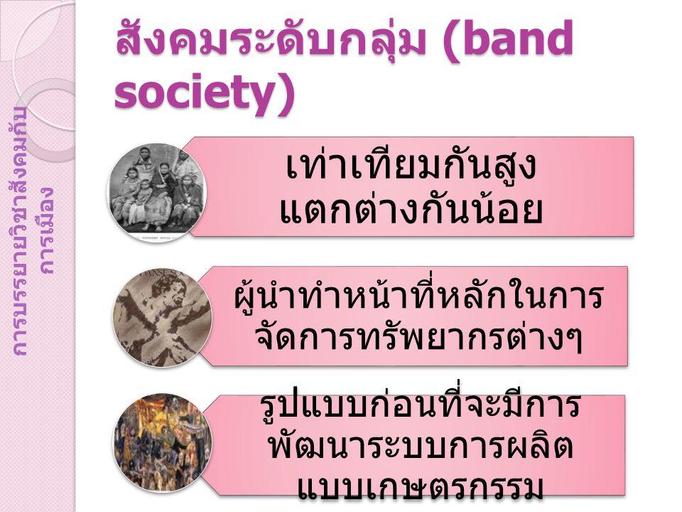 สังคมระดับกลุ่ม (band society)