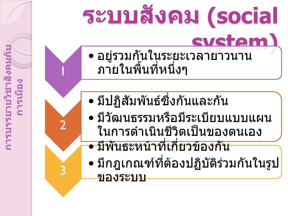 ระบบสังคม (social system)