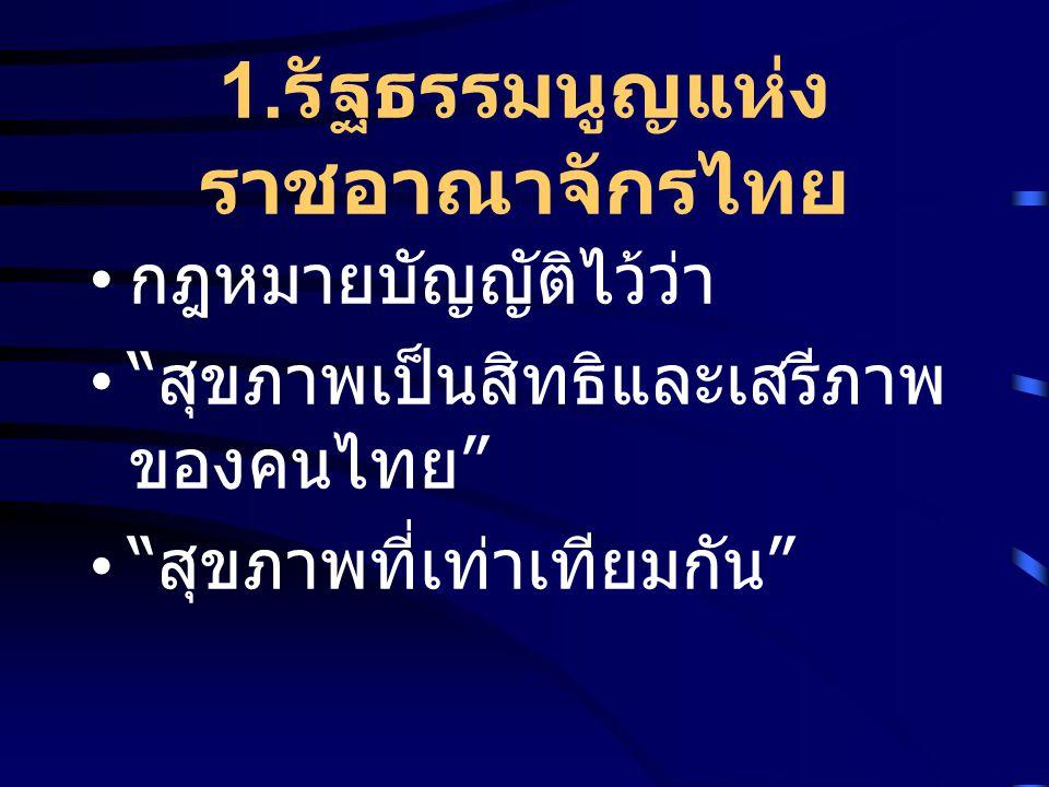 1.รัฐธรรมนูญแห่งราชอาณาจักรไทย