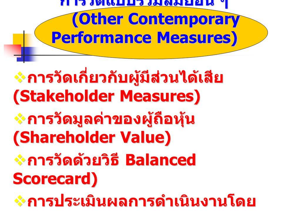 การวัดแบบร่วมสมัยอื่น ๆ (Other Contemporary Performance Measures)