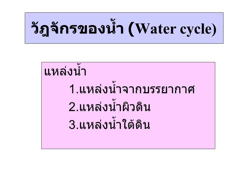 วัฎจักรของน้ำ (Water cycle)