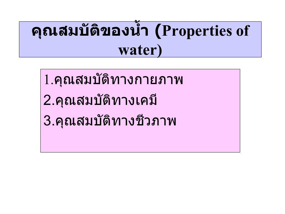 คุณสมบัติของน้ำ (Properties of water)