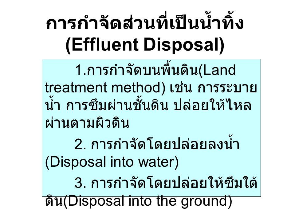 การกำจัดส่วนที่เป็นน้ำทิ้ง (Effluent Disposal)