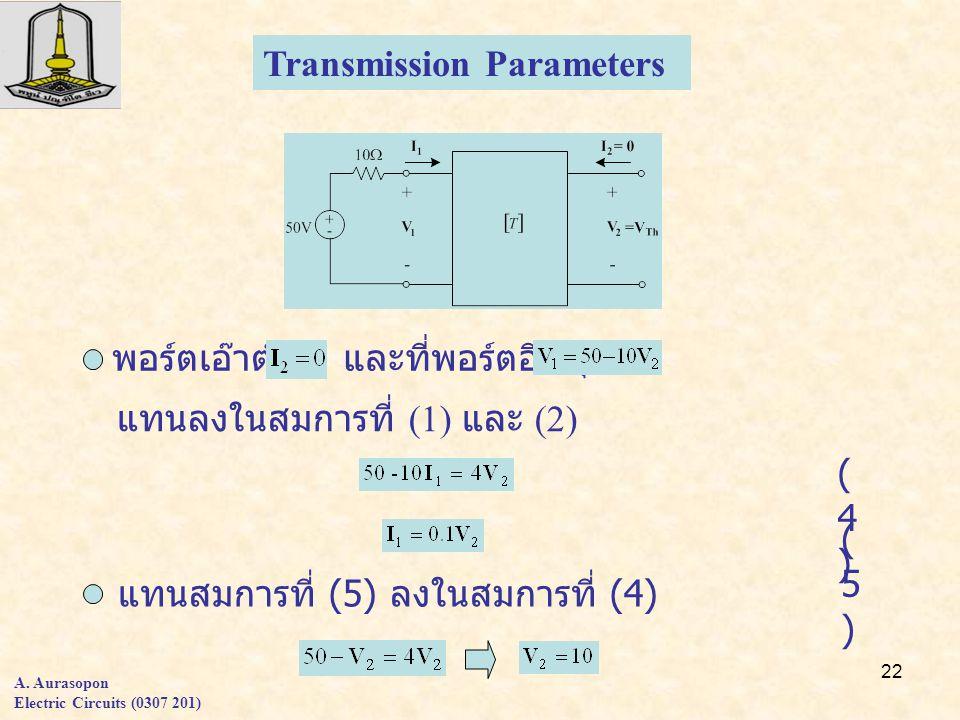 Transmission Parameters